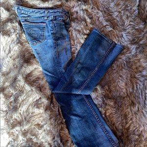 Bebe medium wash jeans